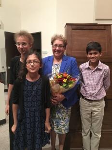 (L to R) Saniya Burman, Riddhma Burman, Mrs. Lopez, Ishaan Shanbhag